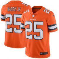 Denver Broncos #25 Chris Harris Jr Orange Color Rush Limited Jer