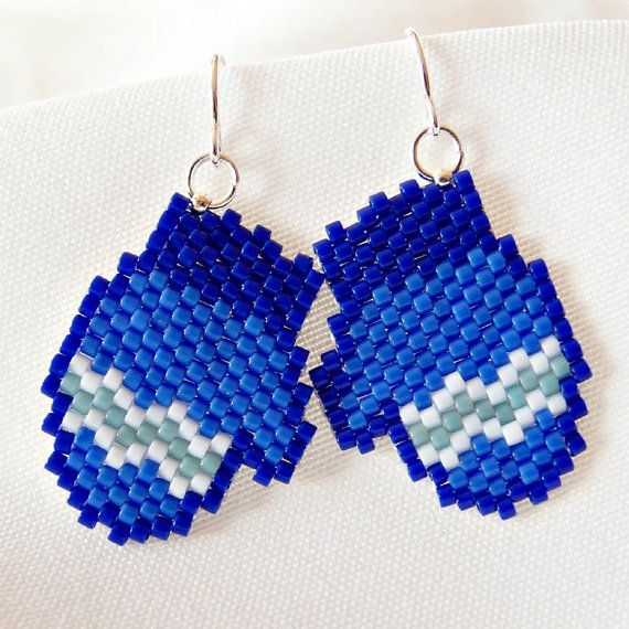 RESERVED Beaded Mittens Earrings  Peyote Stitch by BeadCrumbs