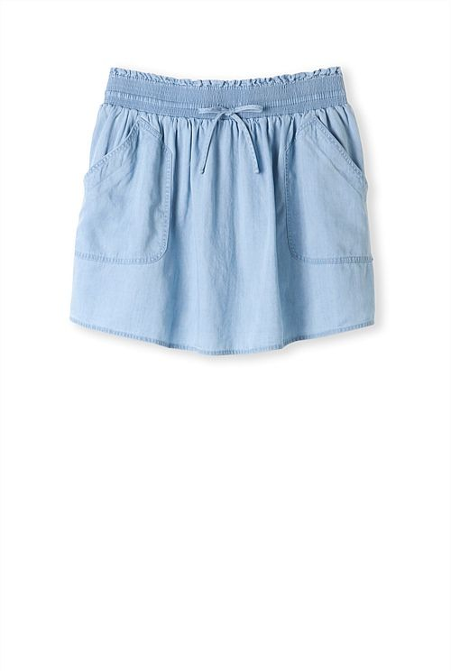 Chambray pocket detail skirt from Country Road