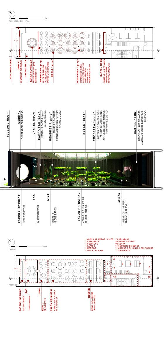 Carbono Atelier - buenos aires // Drawing Gong-Restaurant