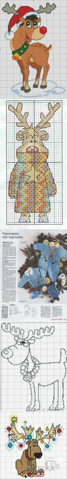 Belosvetika — альбом «Креативные новогодние свитера / Узоры для жаккарда или вышивки / Новогодние олени» на Яндекс.Фотках