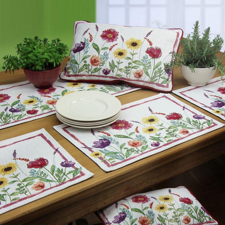 50 besten tischdeko mit gobelins von sander bilder auf pinterest gedeckter tisch kissen und. Black Bedroom Furniture Sets. Home Design Ideas