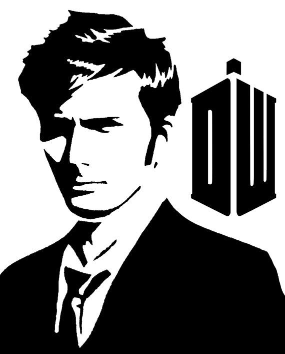 10th Doctor Tennant Vinyl Sticker by OBSKUREVINYL on Etsy ...