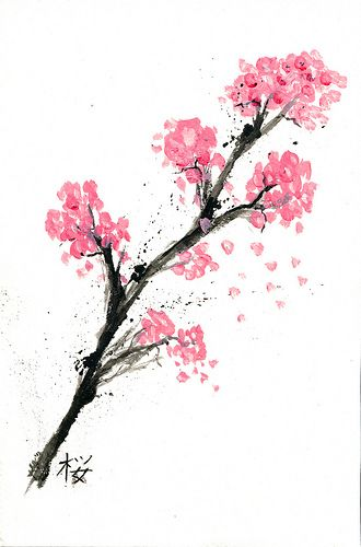 116 best tattoo ideas images on pinterest tattoo ideas for Simple cherry blossom painting