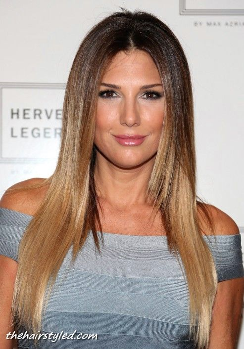 Daisy Fuentes Hairstyle Long Straight Hair