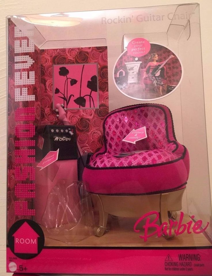 2005 Barbie Fashion Fever Room Rockin Guitar Chair Furniture NEW