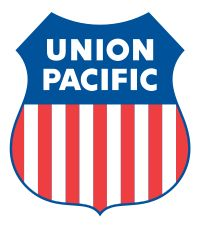 union pacific motor freight logo--possibly on a canvas