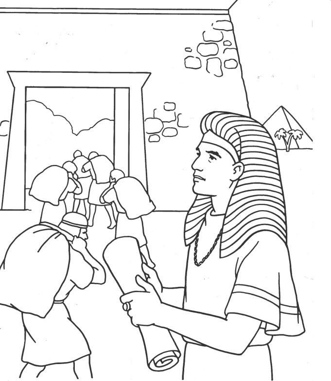 Joseph Worked For Pharaoh Coloring Pages Bible Coloring Pages Sunday School Coloring Pages Bible Coloring
