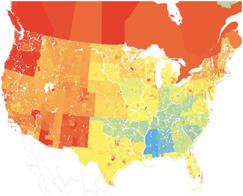 The State Of Your State S Gay Curious Straight Population In A Fancy Map