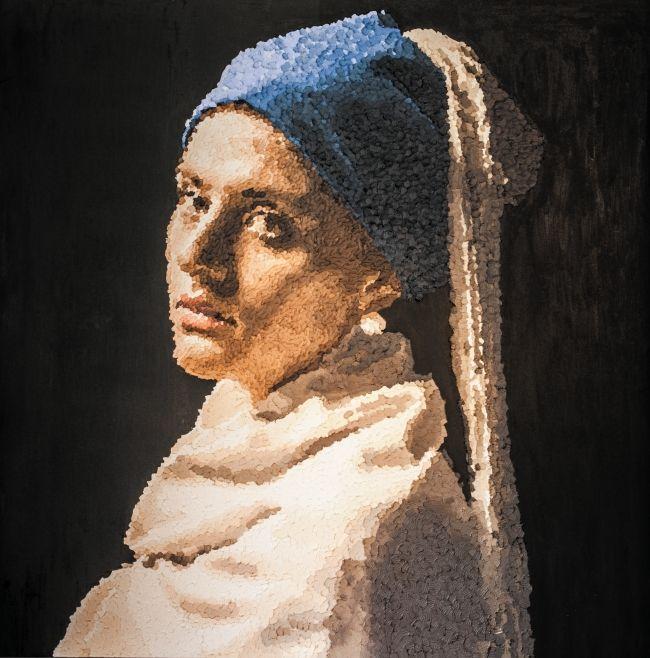 180cm*180cm 'tribute to wermeer' 2012 oil on canvas