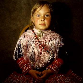 North Sami girl. <3 Wonderful portrait.