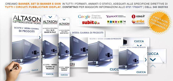 creazione banner e set di banner per campagne pubblicitarie: - statici - animati: flash- Gif- html5