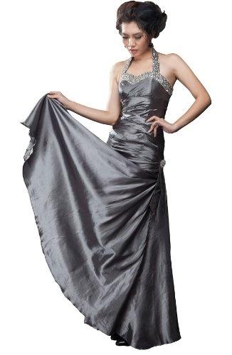 Moonar Satin Halter Formal Gown Floor-length Prom Party Wedding Bridesmaid Dress Silver Size 12 - http://www.cheaptohome.co.uk/moonar-satin-halter-formal-gown-floor-length-prom-party-wedding-bridesmaid-dress-silver-size-12/