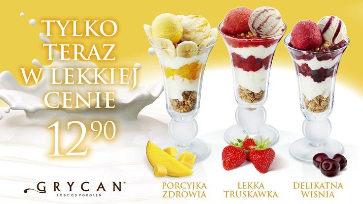 Desery z lodami jogurtowymi są idealne nie tylko na wiosnę, ale również na słodkie spotkania z przyjaciółmi :)