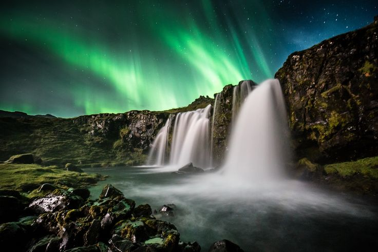 Aurora Waterfalls by OZZO Photography on 500px