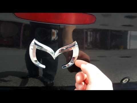 (22) how to make the evil m mazda emblem mazda 3 2006 - YouTube