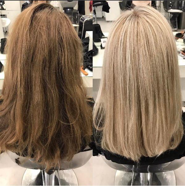 Blonde schwarze Szene Haar
