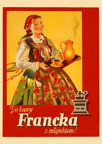Francka - przedwojenny.pl Przedwojenny polski plakat z czasów II RP