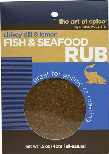 Urban Accents Fish & Seafood Rub-1.5 0z-Rub. Great for grilling or roasting.