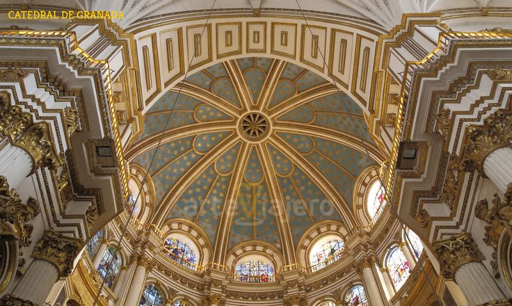 Bóveda de la Capilla Mayor de la Catedral de #Granada http://arteviajero.com/