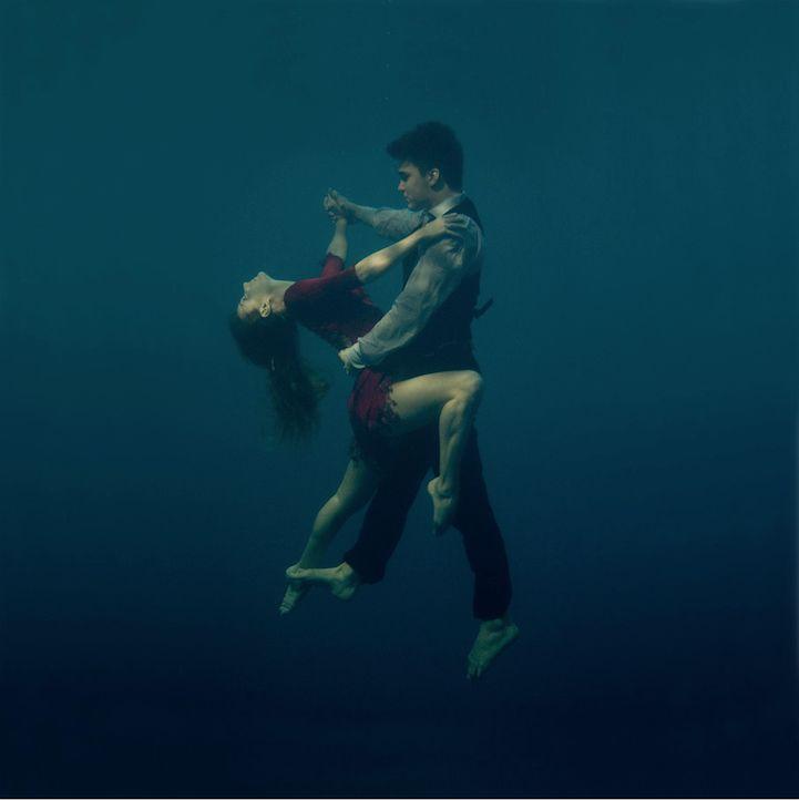 Passionately Dancing the Tango Underwater by Russian artist Katerina Bodrunova