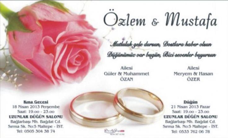 Düğün Davetiye Sözleri - http://www.bayanlar.com.tr/dugun-davetiye-sozleri/