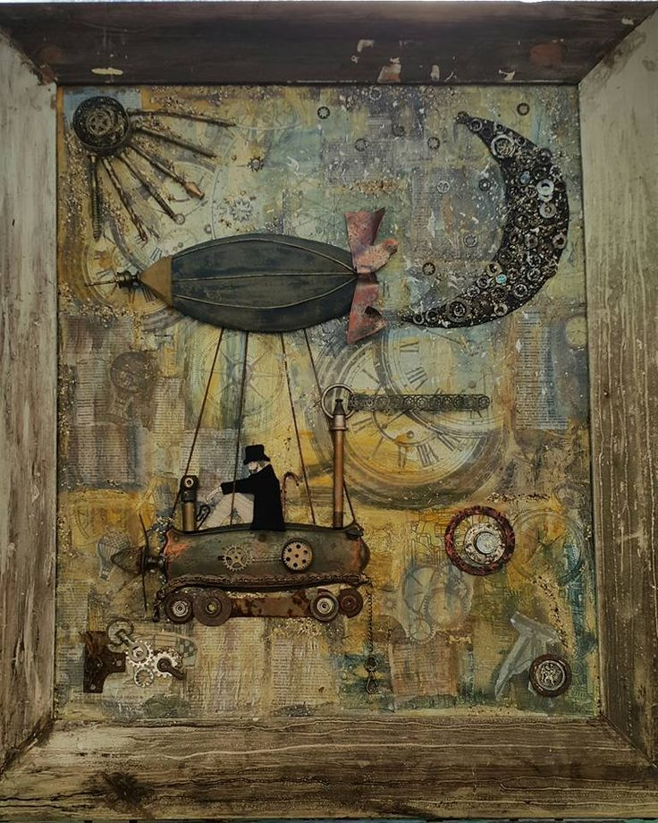 The Time Traveler by Thérèse Quinlivan - Steampunk Artwork a mixed media creation