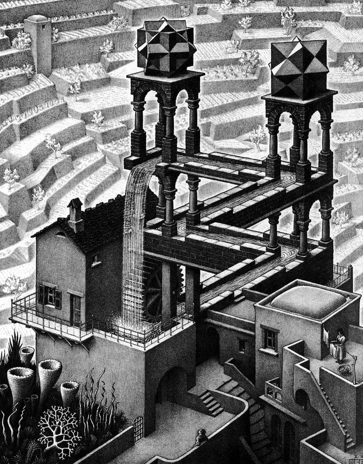M.C. Escher - Waterfall (1961)