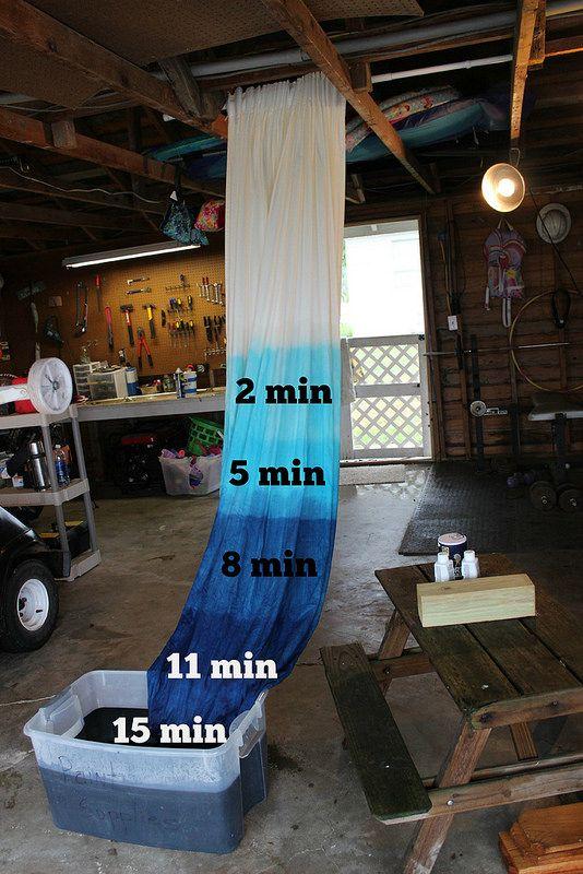 DIY Cómo hacer cortinas degradadas en azul #DIY #Tips #Cortinas #Degradado #Azul