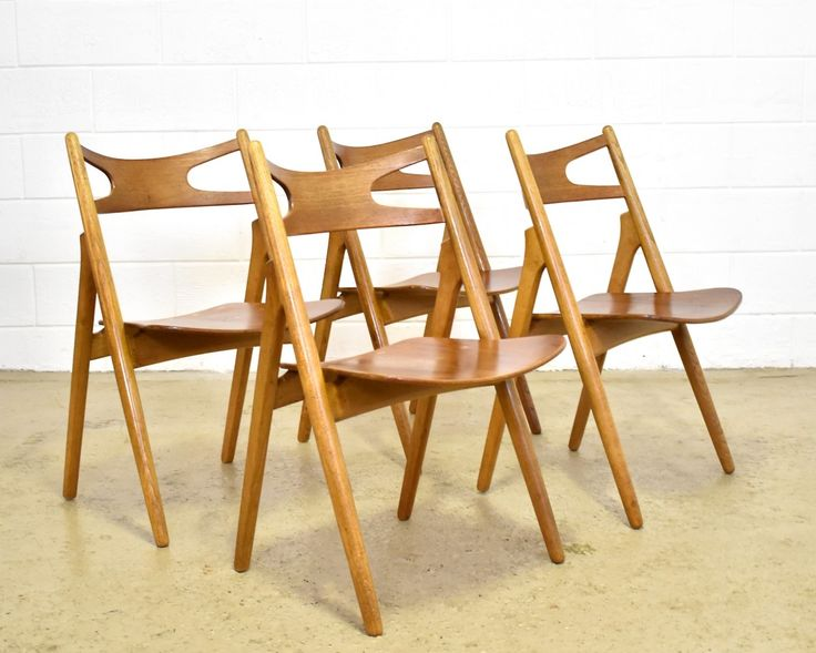 Set of 4 Saw Buck CH29 dinner chairs by Hans Wegner for Carl Hansen & Son, 1960s