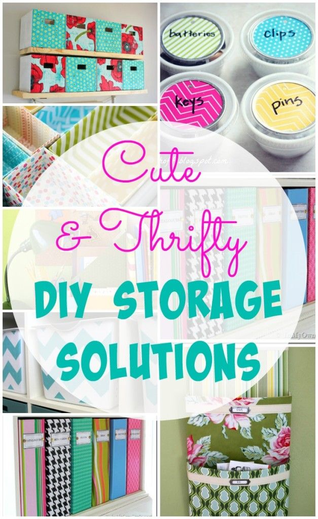 26 fun ideas for creating some cute and thrifty DIY storage solutions. Help maintain an organized and functional space in your home.