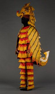 """""""A costume of a sea horse, by Natalia Goncharova, from """"Sadko."""" from 'Diaghilev and the Ballets Russes,' at National Gallery in Washington"""