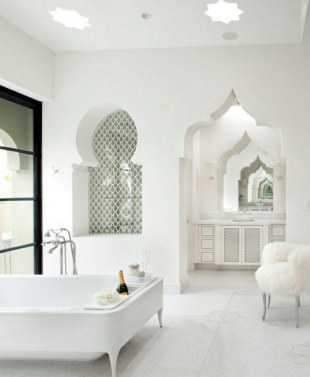 La salle de bain marocaine – l\'exotisme incarné ! | le BLANC dans ...
