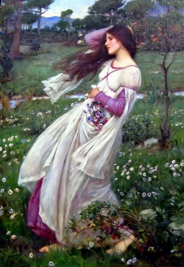 Windflowers John William Waterhouse