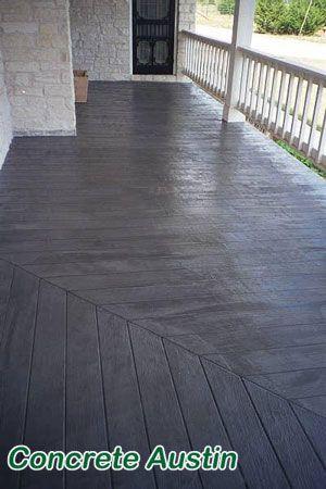 Elegant Stamped Concrete For Front Porch