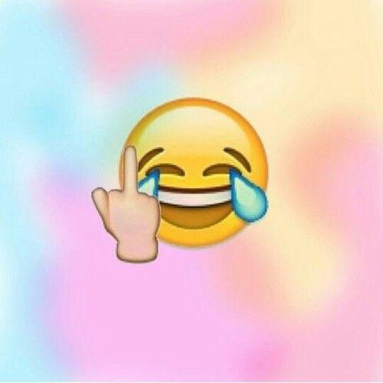 Middle finger emoji wallpaper lol