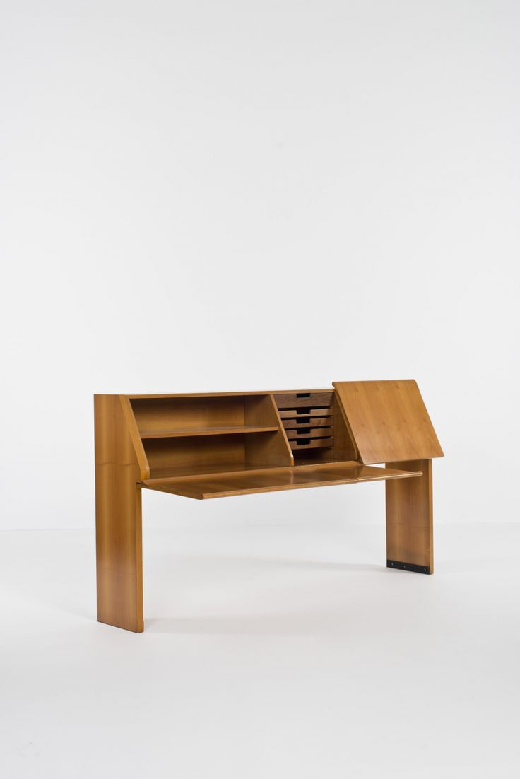 Angelo Mangiarotti; Walnut and Granite Secretary for Lema, 1976.