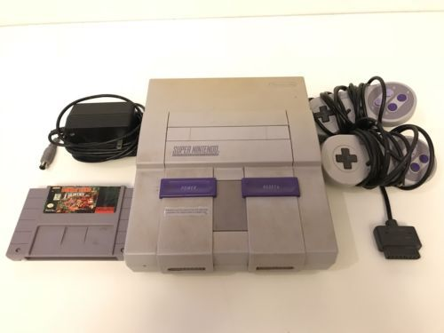 Super Nintendo Console SNES - SNS-001 with two Controllers Tested/Works: $57.00 End Date: Thursday Mar-22-2018 21:34:01 PDT Buy It Now for…