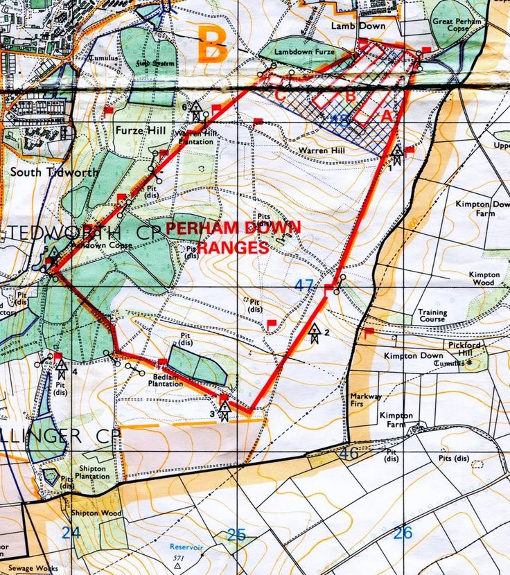 1:25,000 SPTA 1987 - Perham Down