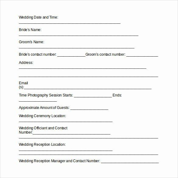 Wedding Videography Contract Template Lovely Wedding Graphy