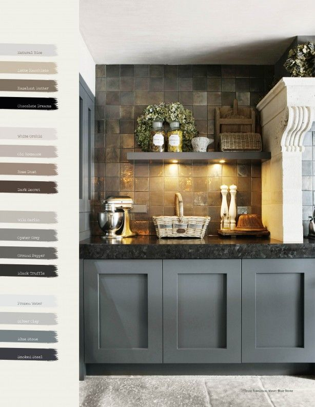 color of cabinets and tile