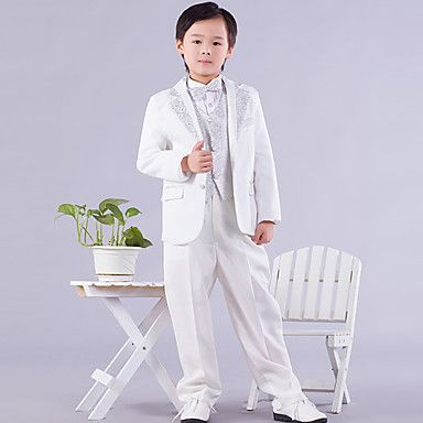 Ring Bear Tuxedo Suits White with Six Pieces Page Boy Outfits (1145547) - USD $ 39.99