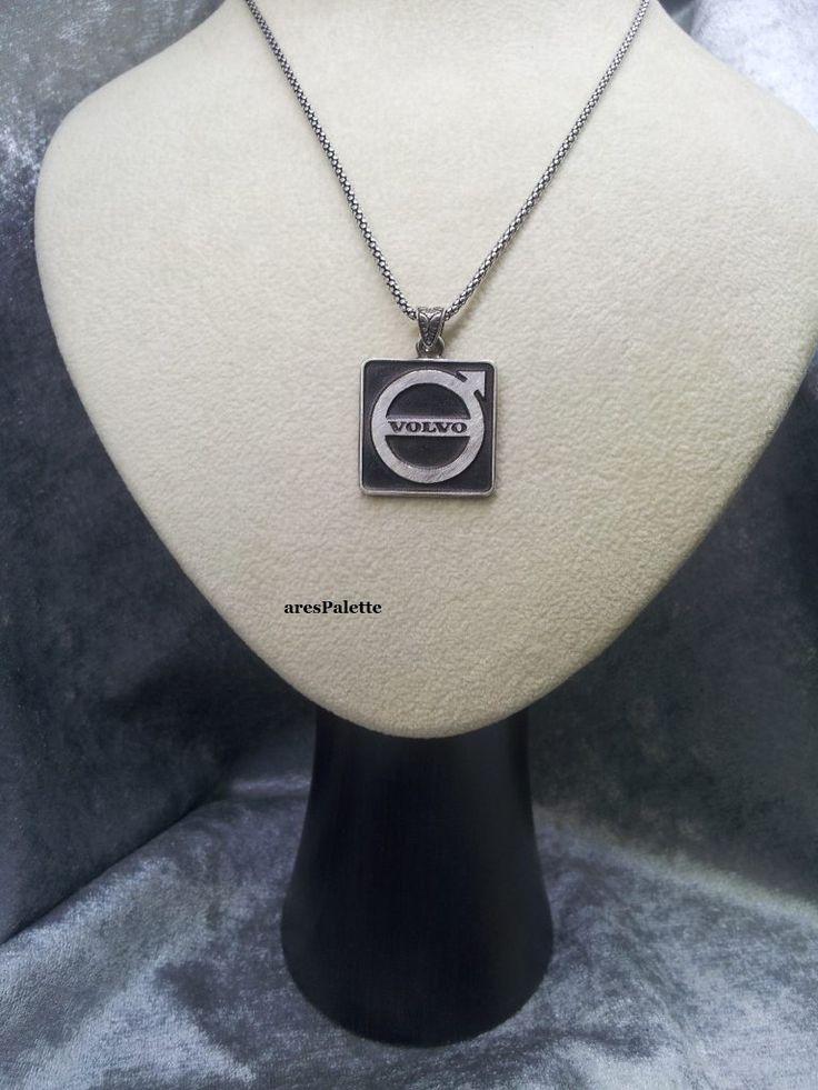 #carjewelry #handmade #silver #necklace #volvo #truck #sweden http://Volvo Necklace-Handmade-925 silver (Free International Standard Shipping)