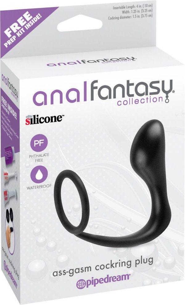 Anal Fantasy Collection Ass-Gasm Cockring Plug  https://www.cupidvilla.com