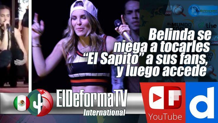 """Belinda se niega a tocarles """"El Sapito"""" a sus fans, y luego accede"""