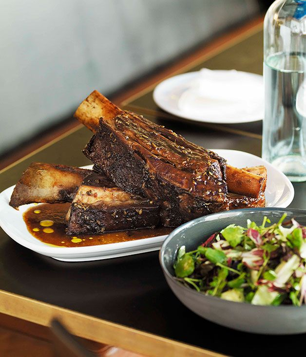 Braised beef short ribs with fennel seeds