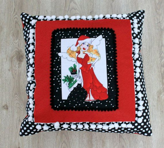 Pillow Covers By Black White Polka Dot and Christmas by sesideco, $40.00