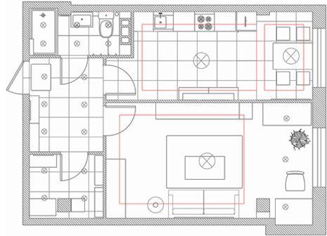 1-но комнатная квартира, площадью в 51,95 квадратных метров, имеет весьма стандартную планировку. Из коридора «открывается доступ» во все остальные помещения: ванную комнату, кладовку, кухню и гостиную. Концепция интерьера квартиры разработана таким образом, дабы поддерживать жизнерадостный настрой и динамизм своих хозяев.