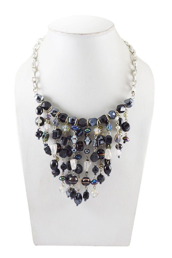 Adbeni+Black+Beads+Handcraft+Necklace-ADB-22+Price+₹539.00