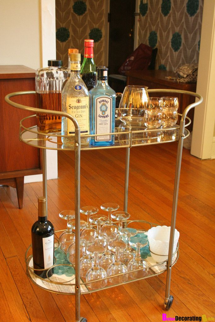 Well-liked 133 best BAR CART images on Pinterest | Bar cart, Serving cart and  JA91
